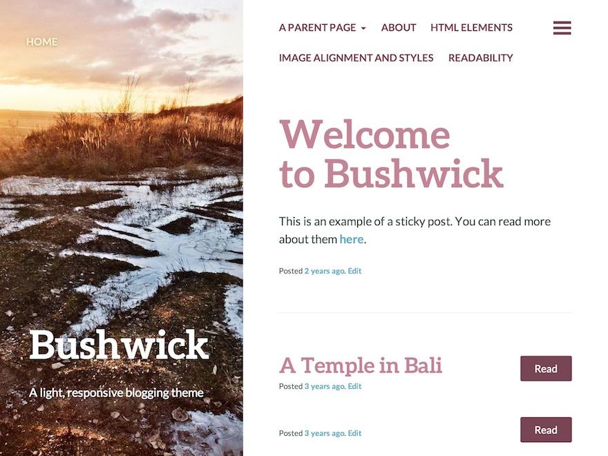 Bushwick WordPress free download