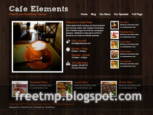 Cafe Elements WordPress restaurant theme