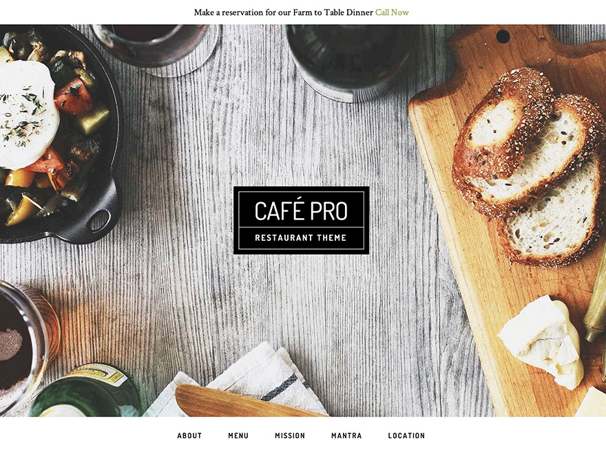 Cafe Pro Theme WordPress theme