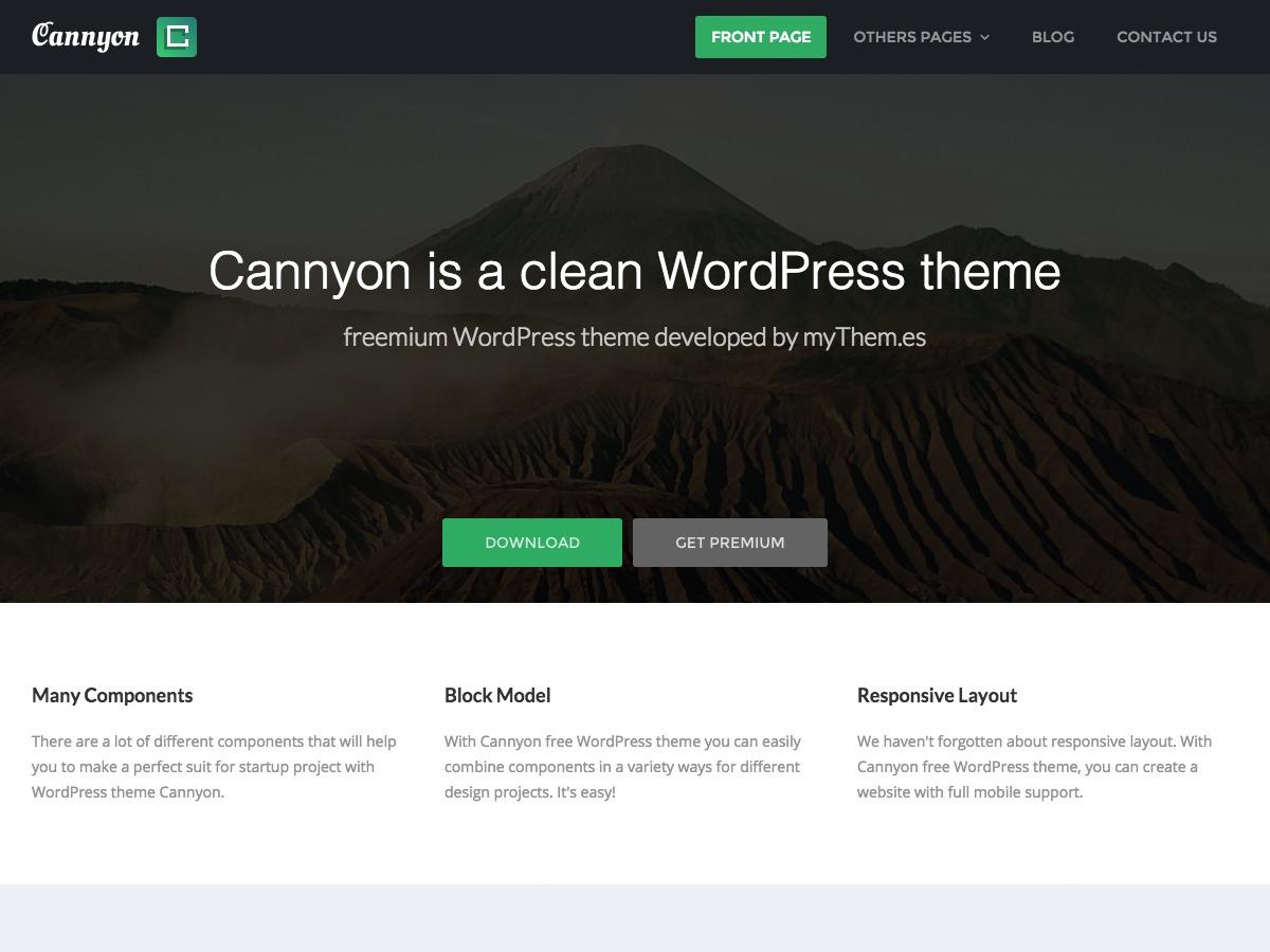 Cannyon WordPress video theme