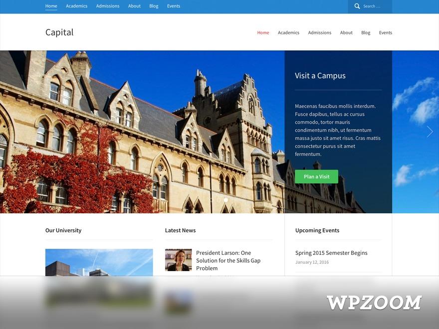 Capital Theme top WordPress theme