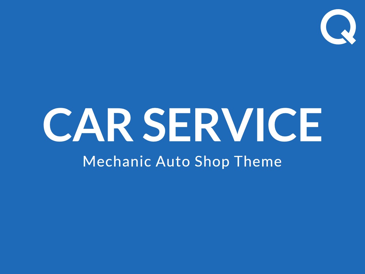Carservice company WordPress theme