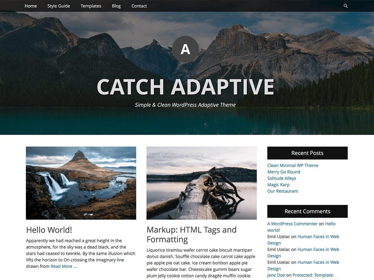 Catch Adaptive best free WordPress theme
