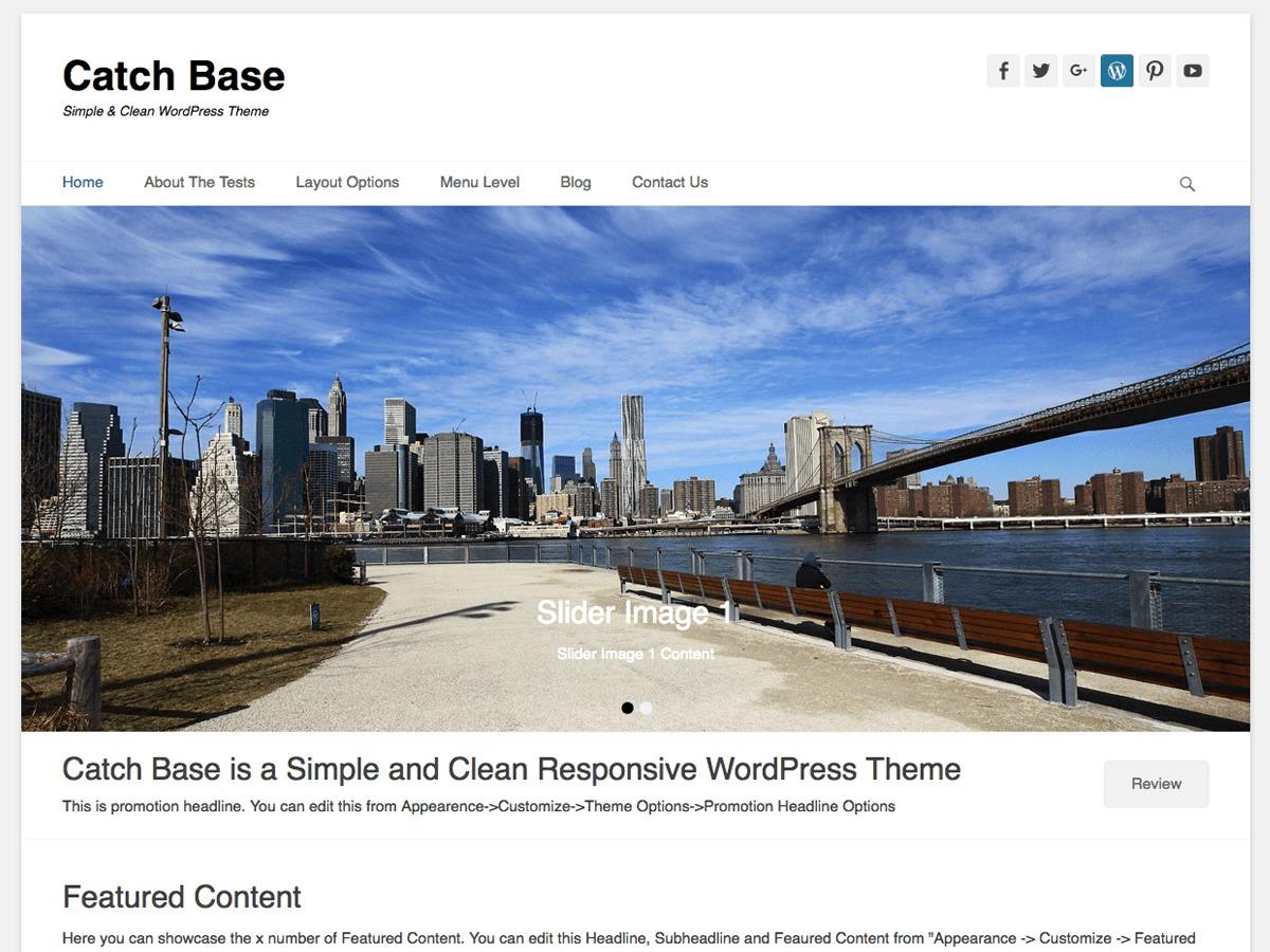 Catch Base free WordPress theme