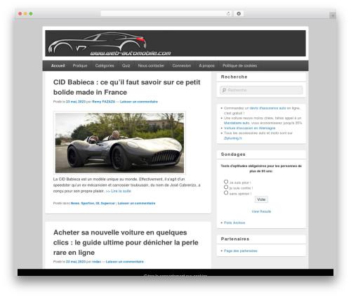 Free WordPress SlickQuiz plugin - web-automobile.com