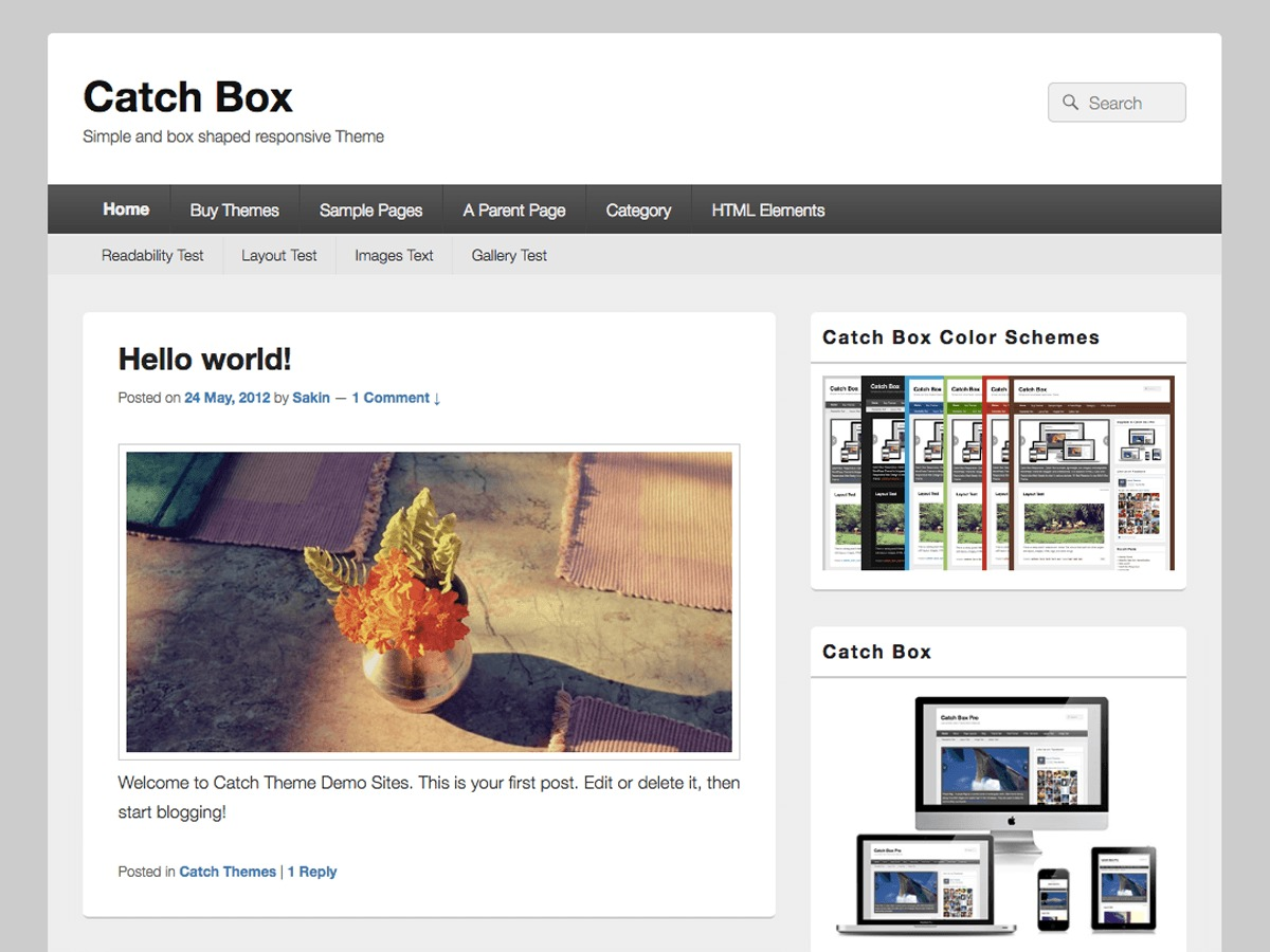 Catch Box WordPress theme download