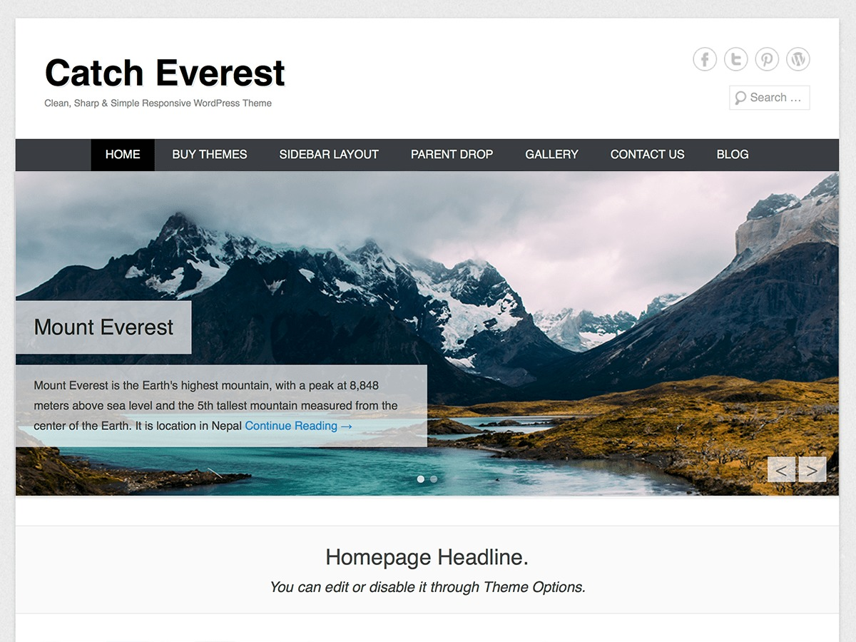 Catch Everest best free WordPress theme