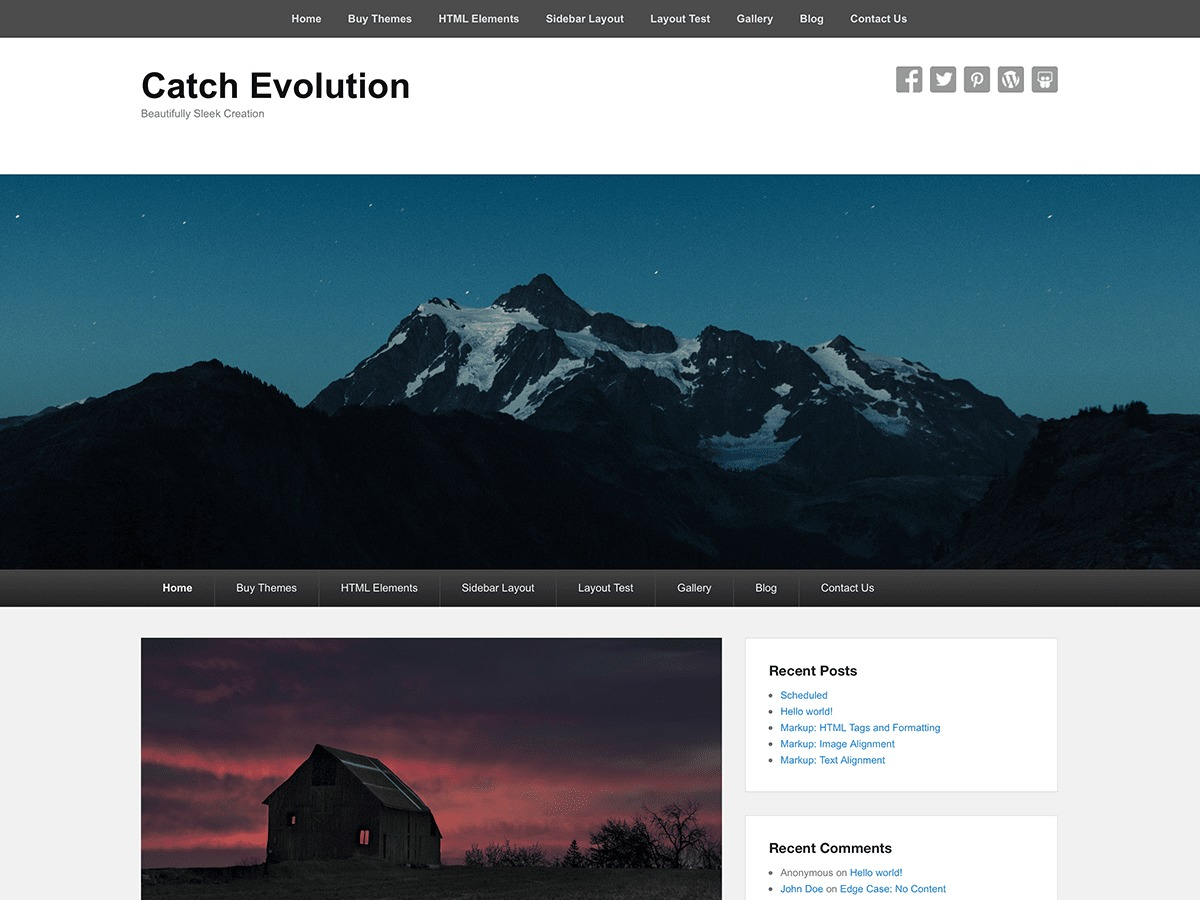Catch Evolution WordPress theme free download