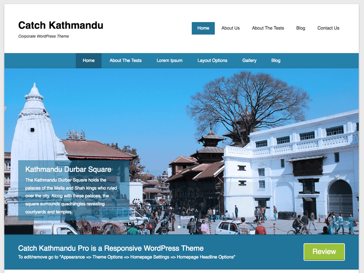 Catch Kathmandu wallpapers WordPress theme