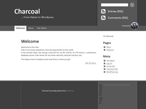 Charcoal WordPress page template