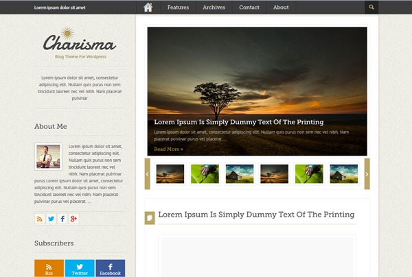Charisma WordPress portfolio theme
