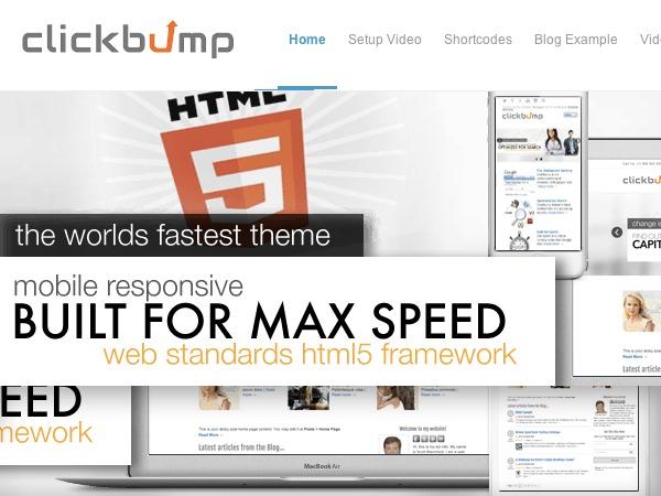 ClickBump best WordPress video theme