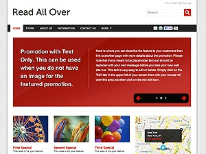 Color Collection: Read All Over WordPress page template