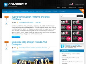 Colorbold WP template