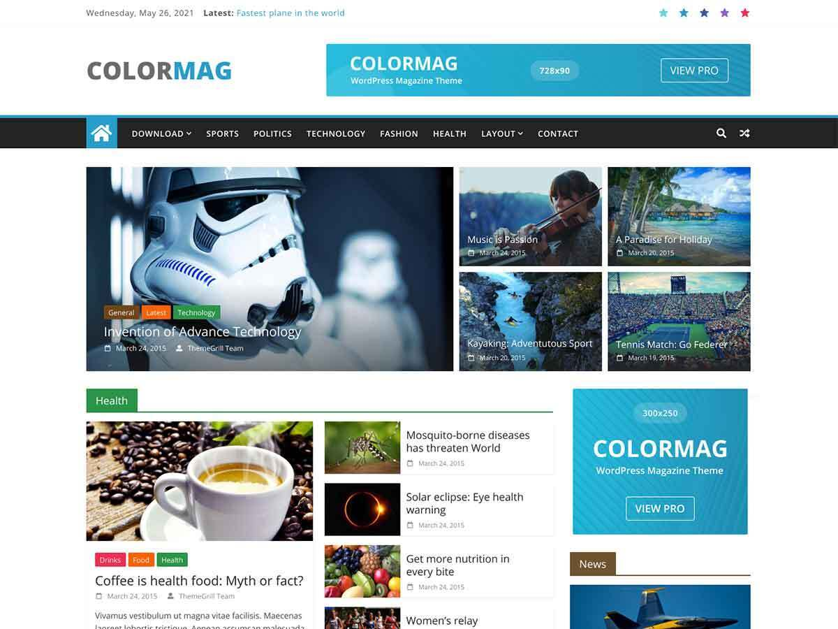 ColorMag free WP theme