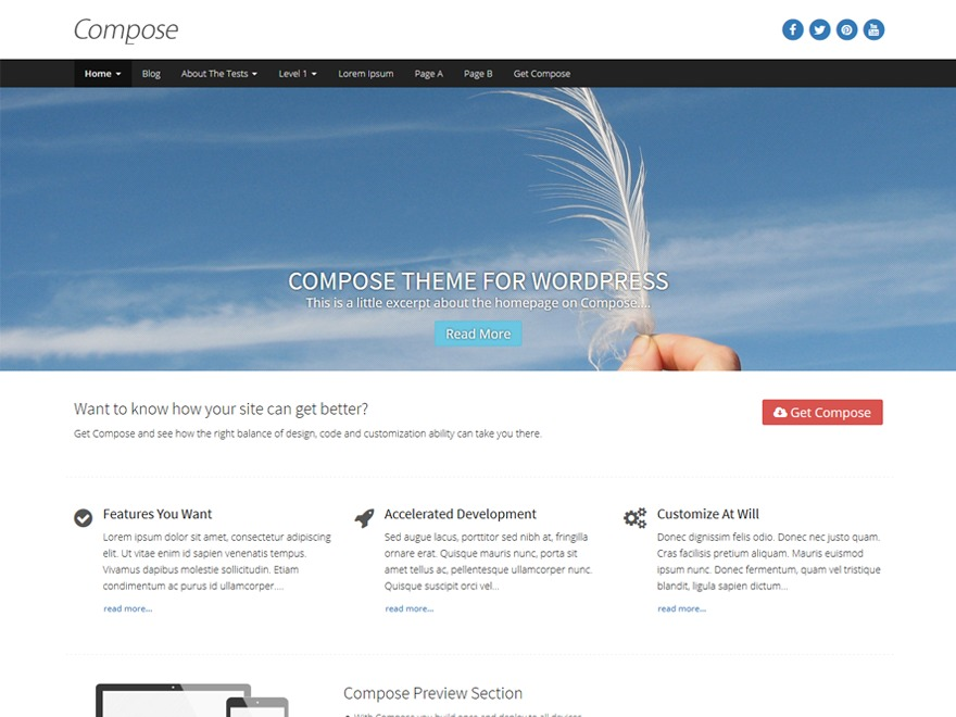 Compose WP WordPress shopping theme
