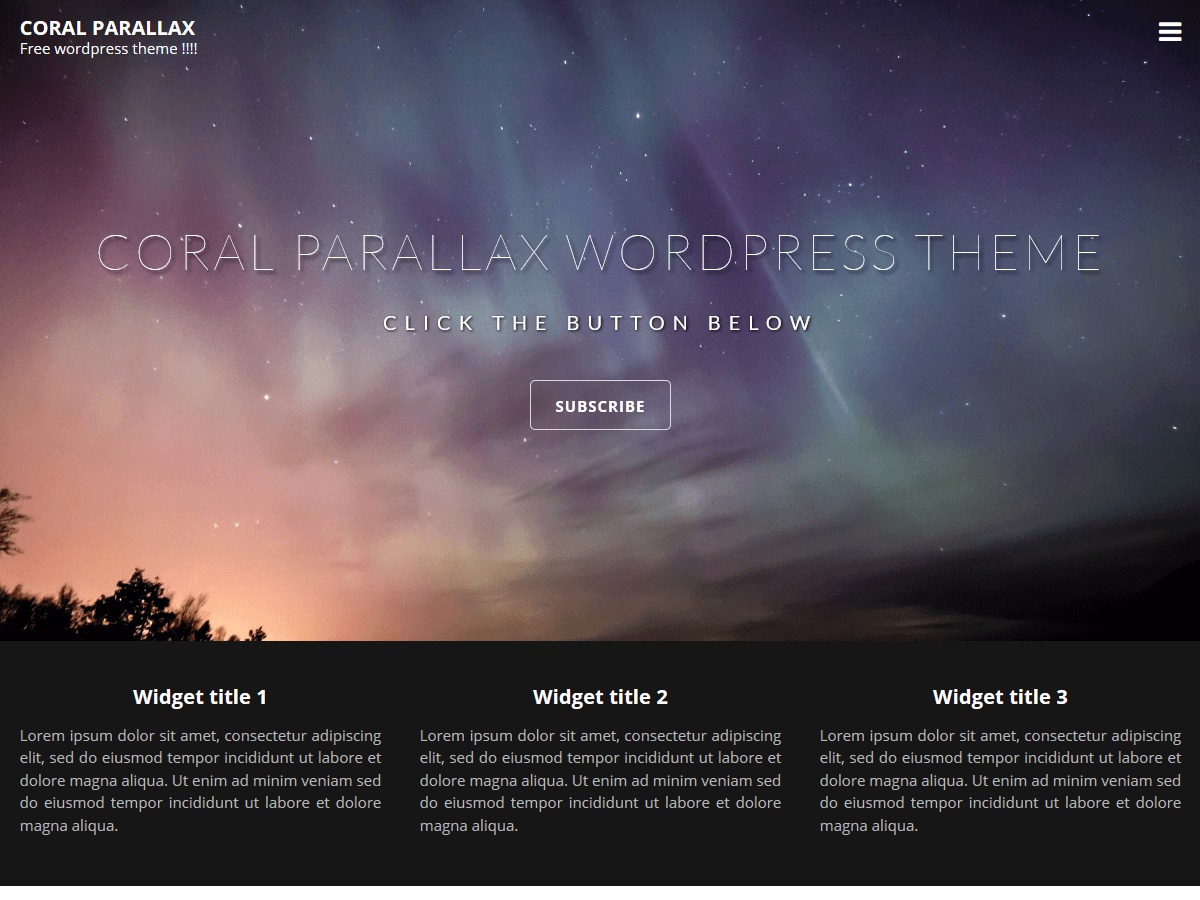 Coral Parallax WordPress theme image