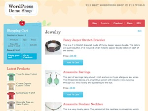 Crafty Cart WordPress ecommerce template