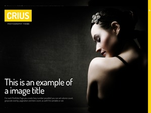 Crius photography WordPress theme