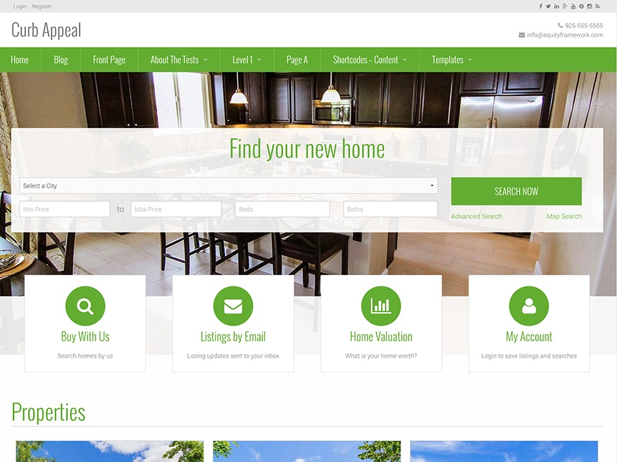 Curb Appeal real estate template WordPress