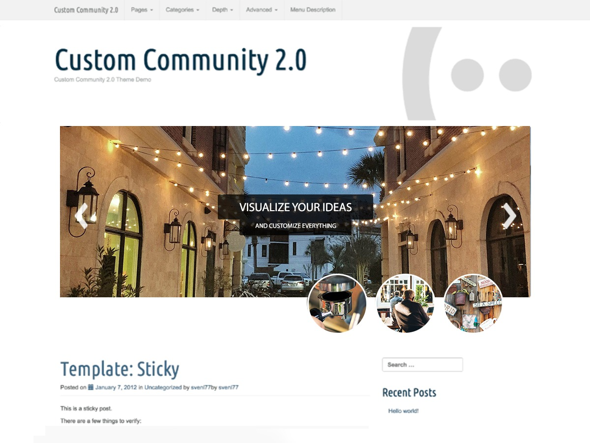 Custom Community WordPress template free