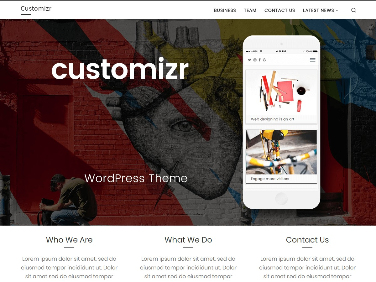 Customizr template WordPress free