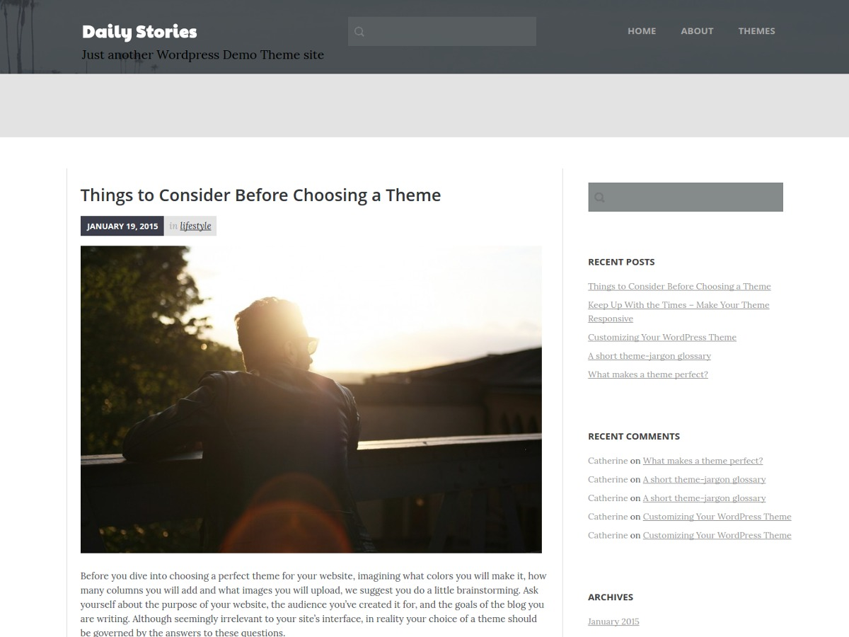Daily Stories free WP theme