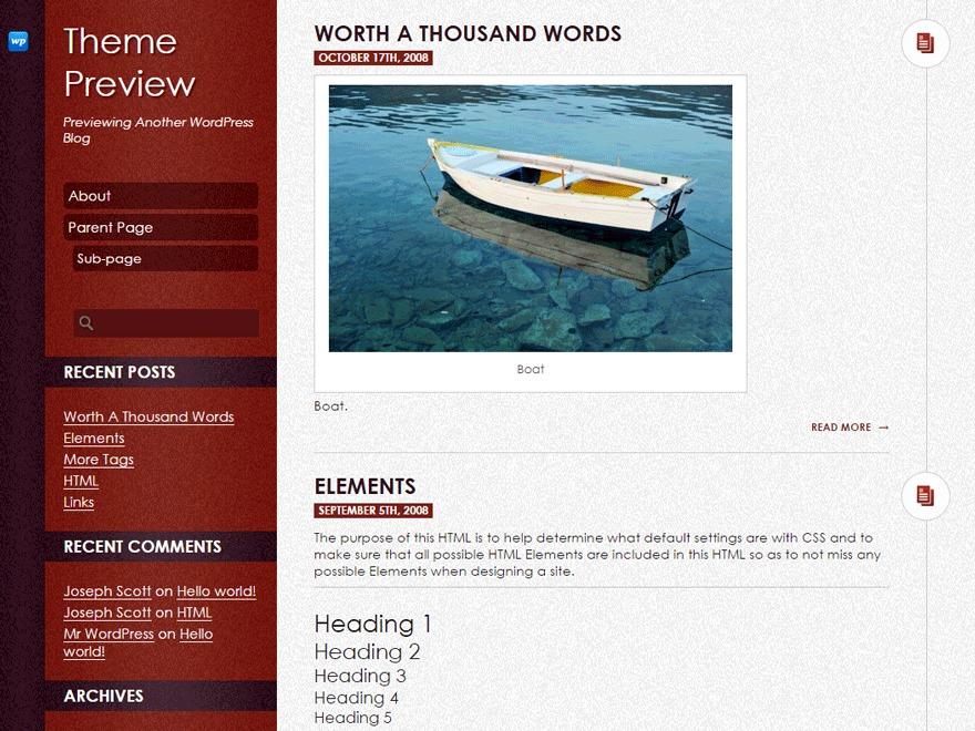 DailyPost WordPress website template