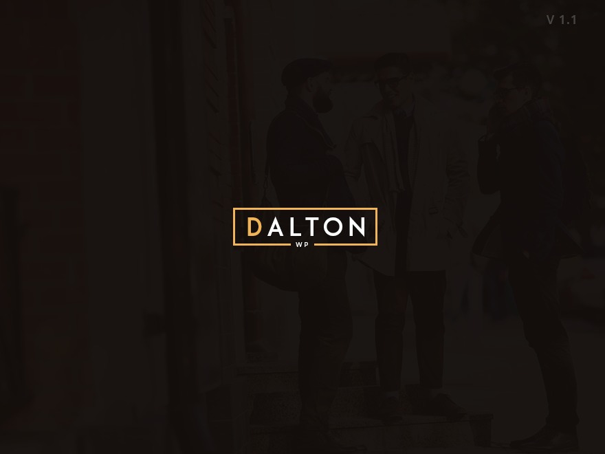 Dalton Theme WordPress theme design