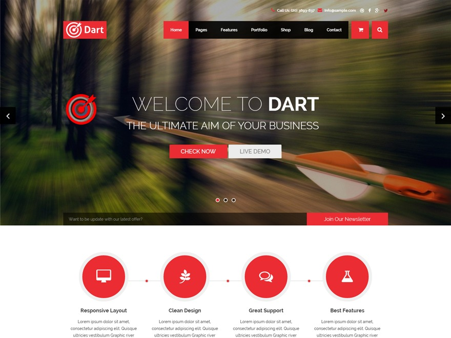 Dart WordPress theme