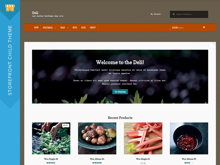 Deli WordPress template free download
