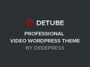 deTube WordPress news template