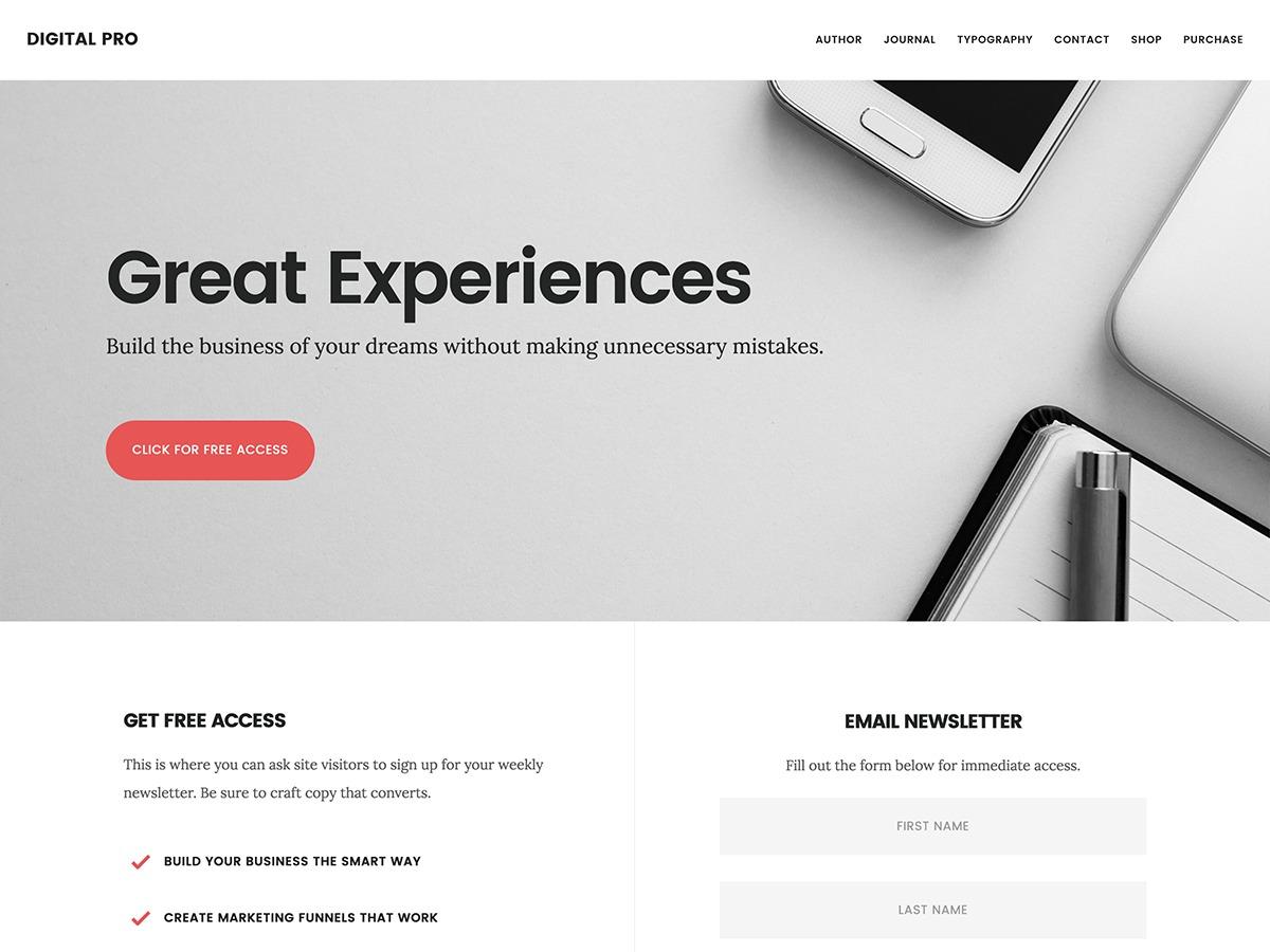 Digital Pro WordPress photo theme