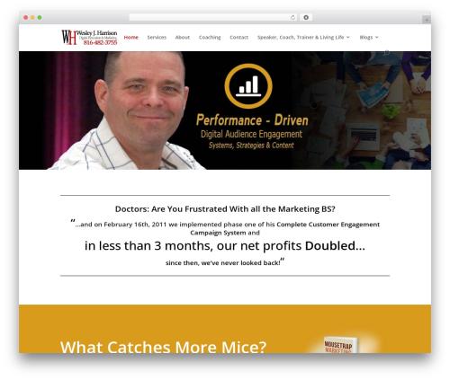 Divi company WordPress theme - wesleyharrison.com