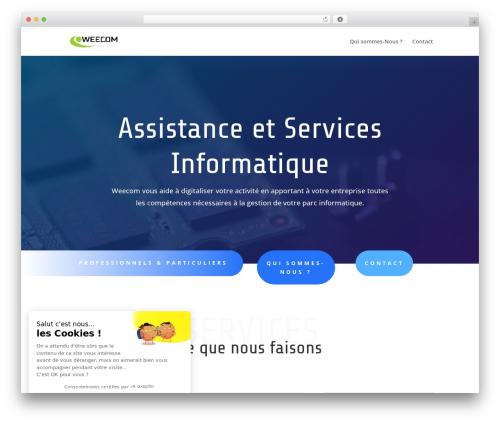 Divi theme WordPress - weecom.fr