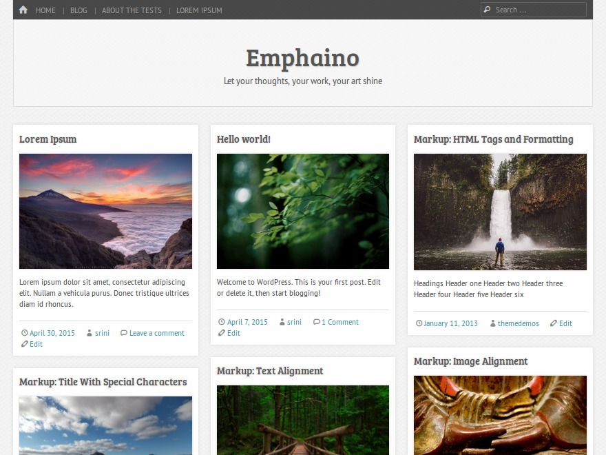 Emphaino premium WordPress theme