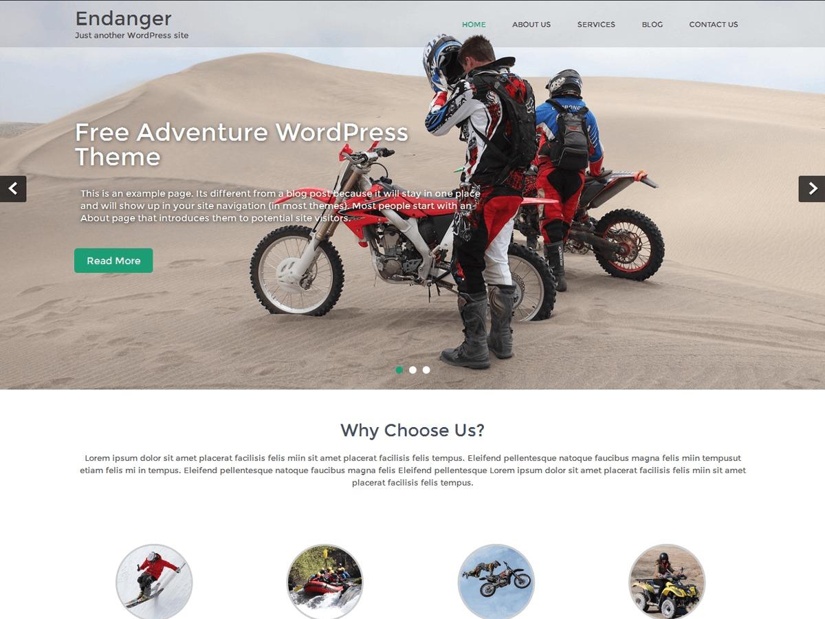 Endanger free website theme