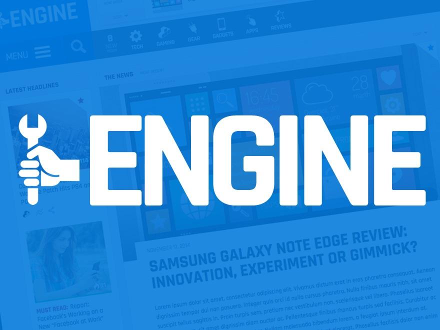 Engine WordPress magazine theme