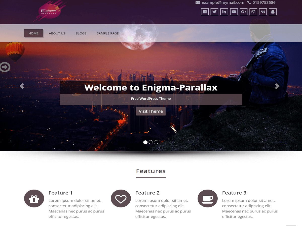 enigma-parallax best WooCommerce theme