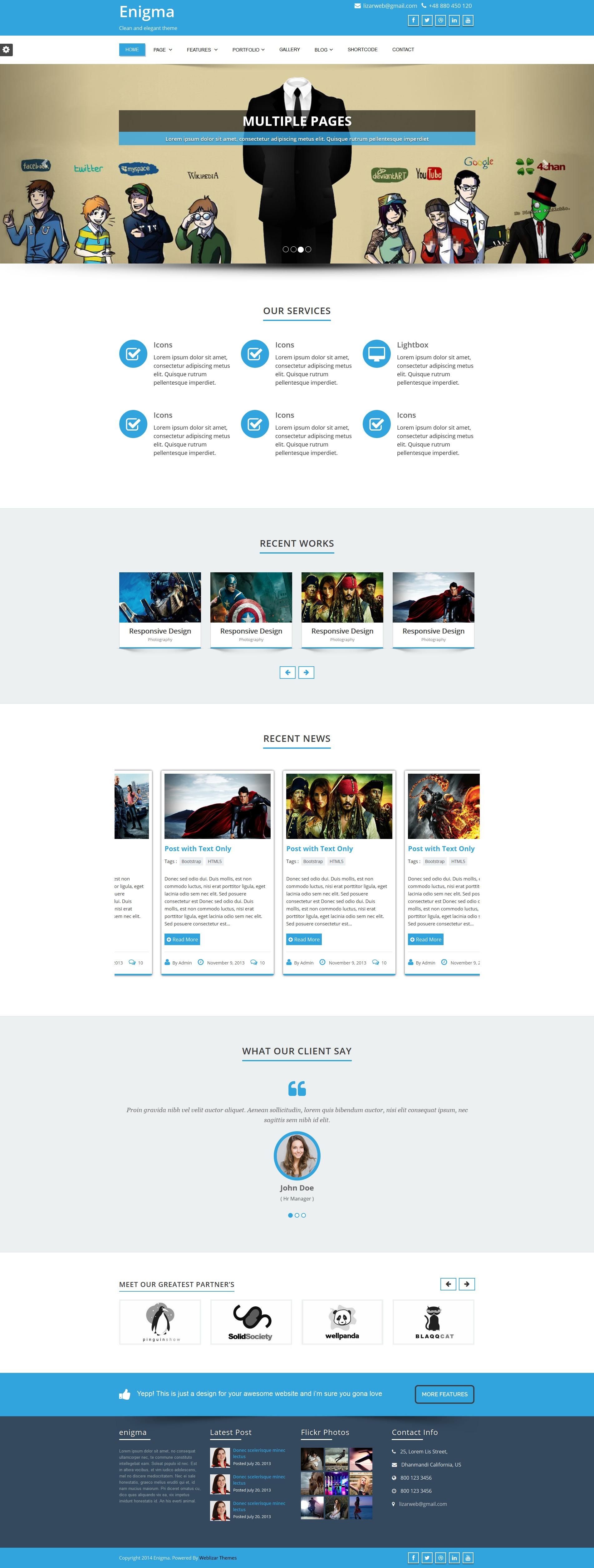 Enigma-Pro company WordPress theme