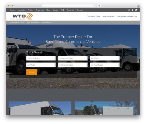 Epik WP theme - worktruckdirect.com