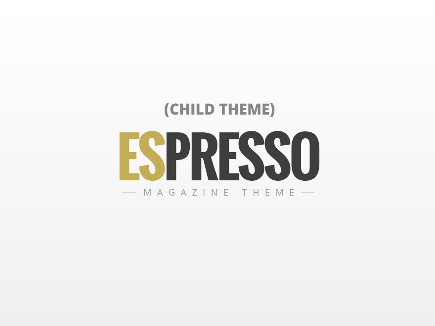 ESPRESSO - Child newspaper WordPress theme