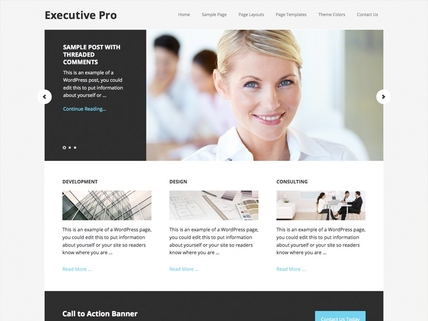 Executive Pro Theme best WordPress theme