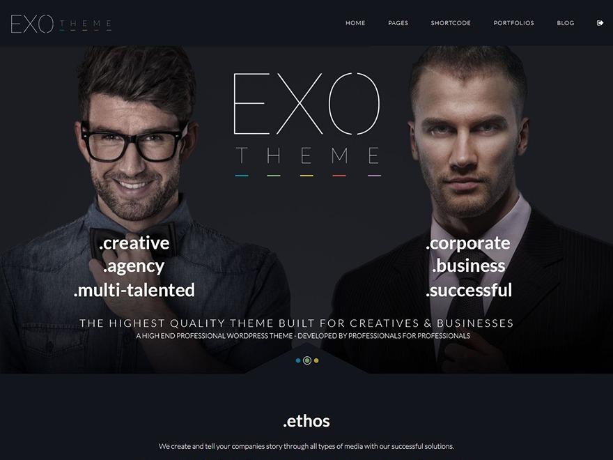 EXO Theme best WordPress magazine theme