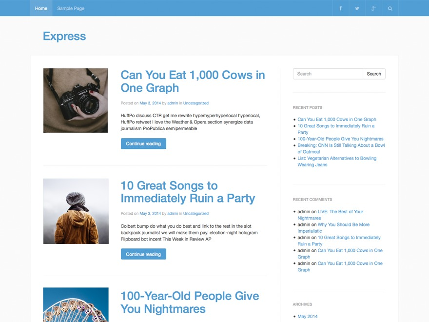 EXPRESS template WordPress