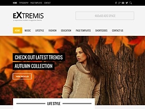 Extremis best WordPress magazine theme