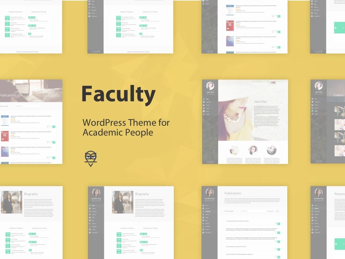Faculty theme WordPress