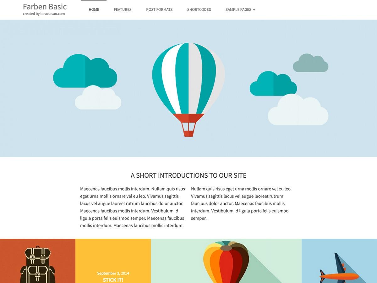 Farben Basic WordPress video theme