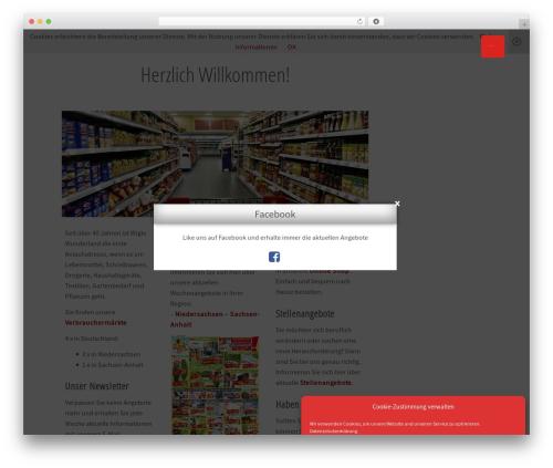 Flat best WordPress template - wiglo.de