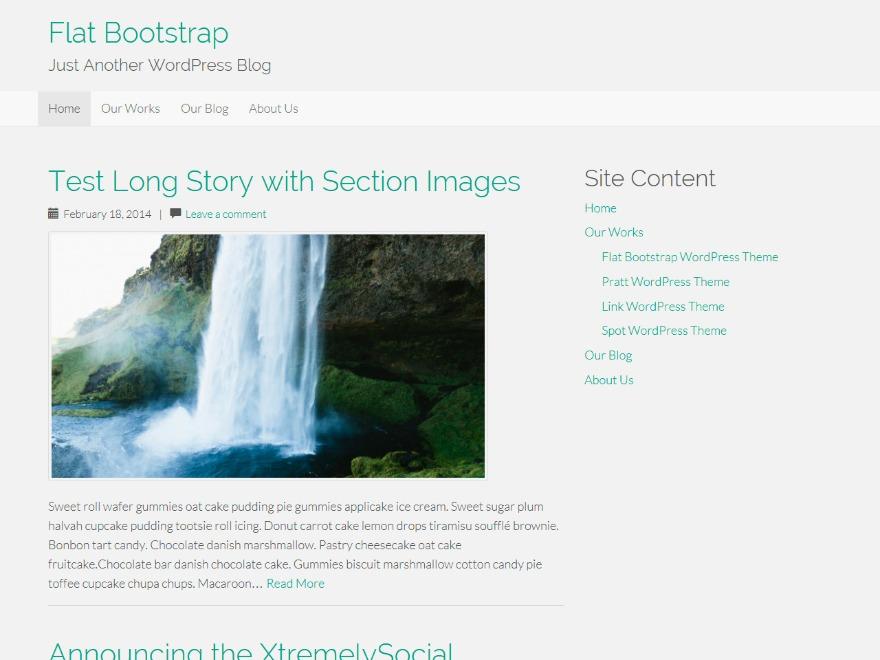 Flat Bootstrap Child WordPress theme